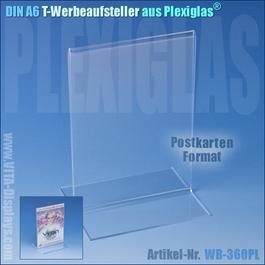DIN A6 T-Aufsteller aus Plexiglas®