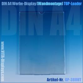 DIN A4 Werbedisplay / hängend (Top-Loader)