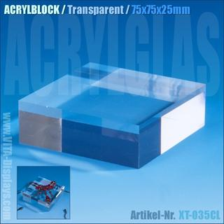 Acrylblock / transparent (75x75x25mm)