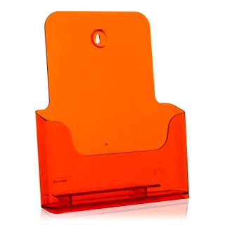 DIN A4 Prospekthalter / neon-orange