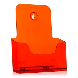 DIN A5 Prospekthalter / neon-orange