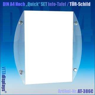 DIN A4 Quick SET Info-Schild / CHROM