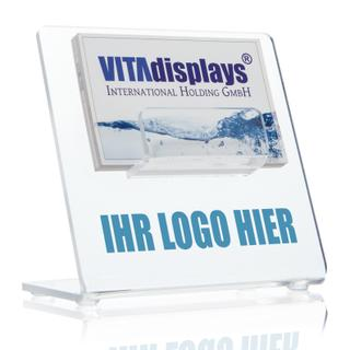 Visitenkarten-Presenter aus PLEXIGLAS® inkl. Digitaldruck