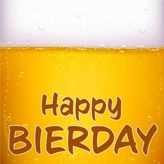 "Kühlschrankmagnet / Whiteboard Deko-Magnet ""Happy Bierday"""