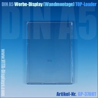 DIN A5 Werbedisplay / hängend (Top-Loader)