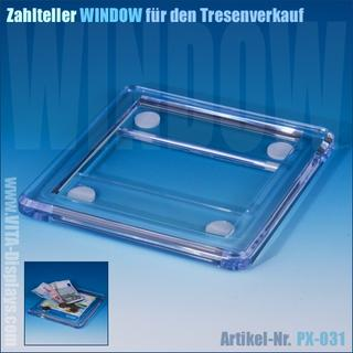 Zahlteller / Cash-Tray WINDOW aus Acrylglas